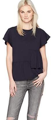 Camp Moonlight Women's Asymmetric Ruffle T-Shirt