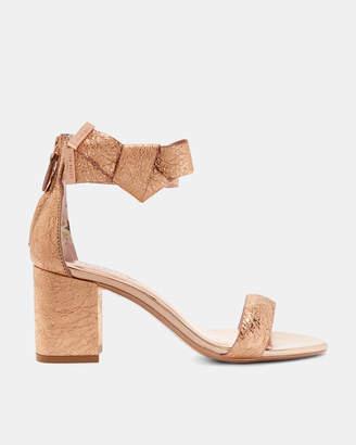 KERRIA Bow strap block heel leather sandals