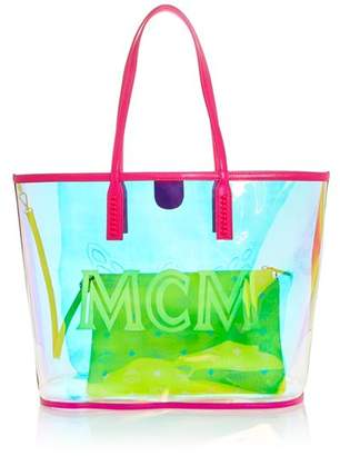 MCM Medium Iridescent Shopper Tote