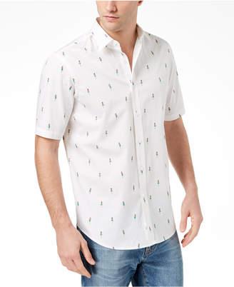 Club Room Men's Hula Girl Printed Shirt, Created for Macy's