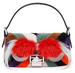 Fendi Women's Leather, Fur & Shearling Baguette