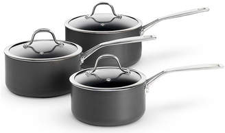 M&S ChefMarks and Spencer Chef Hard Anodised 3 Piece Pan Set