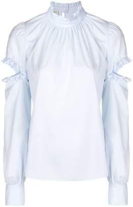 Pinko cut-detail long sleeve blouse