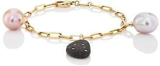 Cvc Stones Women's Removable-Charm Bracelet - Black