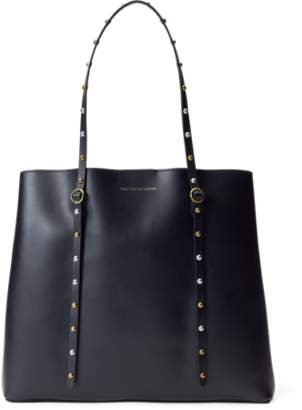 Ralph Lauren Studded Leather Lennox Tote