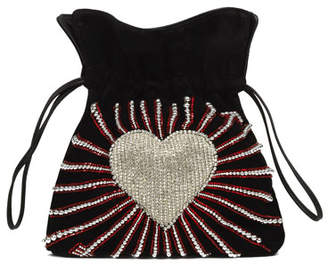 Les Petits Joueurs Trilly Heart Cupid Satin Pouch Bag