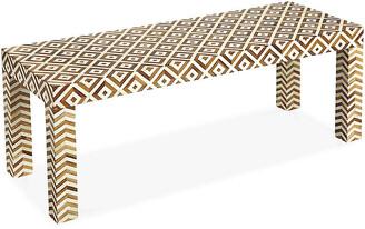 One Kings Lane Paige Coffee Table - Ivory/Teak