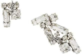 Saint Laurent crystal logo earrings