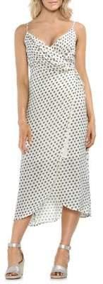 Vince Camuto Sleeveless Printed Wrap Dress