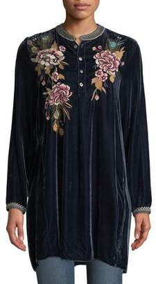 Johnny Was Quito Velvet Trapeze Tunic, Petite