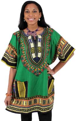 66c9f14b6a1 African Inspired Fashions King-Sized Traditional Print Unisex Dashiki Top -  Up to 68