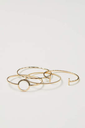 H&M 4-pack Bangles - Gold-colored - Women
