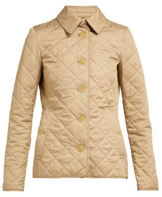 Burberry Frankby Quilted Gabardine Jacket - Womens - Beige