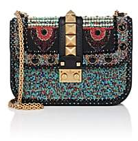 Valentino WOMEN'S SMALL BEADED LEATHER SHOULDER BAG