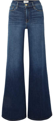 9032fd2f4220 Frame Le Palazzo High-rise Wide-leg Jeans - Light denim