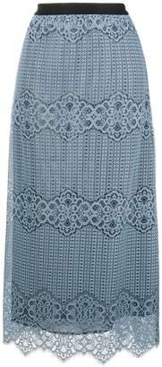 Pinko lace overlay long skirt