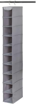 Richard's Homewares RICHARDS HOMEWARES 10 Shelf Closet Shoe Organizer - Gray