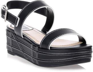 Christian Dior Yacht navy leather sandal