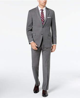 Tommy Hilfiger Men's Modern-Fit THFlex Stretch Gray/Blue Plaid Suit