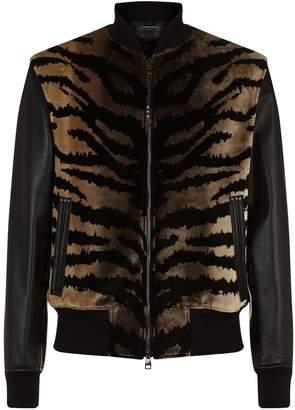 Alexander McQueen Zebra Bomber Jacket