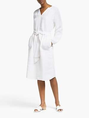 John Lewis & Partners Linen Smock Dress