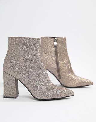 Public Desire Empire glitter heeled ankle boots