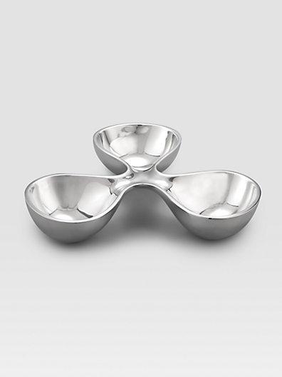 Nambe Morphik Triple Bowl