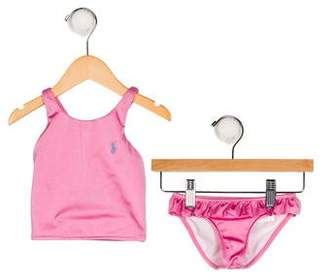 Ralph Lauren Girls' Halter Two-Piece Swimsuit