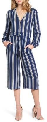 Women's Everly Stripe Crop Jumpsuit $55 thestylecure.com