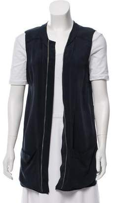 Pierre Balmain Sleeveless Exposed Zip Vest