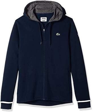 Lacoste Men's Long Sleeve Hoodie with Novak Back Graphic Sweatshirt