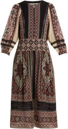 Sea Ezri printed crepe de Chine dress