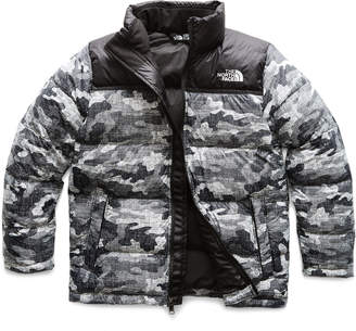 The North Face Nuptse Camo-Print Quilted Down Jacket, Size XXS-L