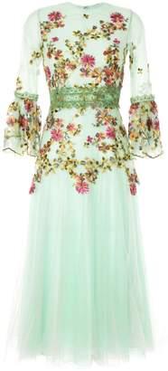 Costarellos embroidered midi dress