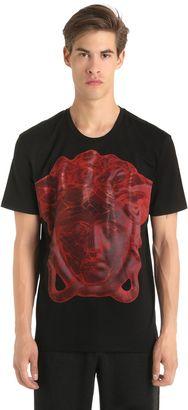 Medusa Printed Cotton Jersey T-Shirt $226 thestylecure.com