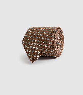 Reiss Sterling - Silk Medallion Tie in Gold