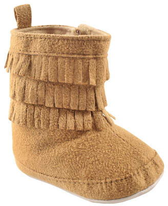 Baby Vision Luvable Friends Fringe Booties, Tan, 0-18 Months