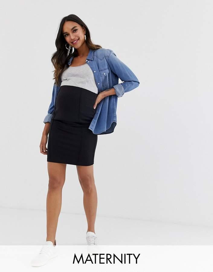 Mama Licious Mama.licious Mamalicious Organic Knee Length Tube Skirt