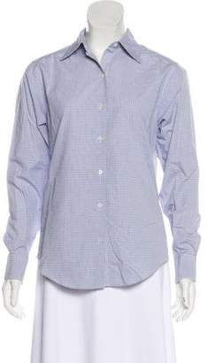 Brooks Brothers Check Button-Up Top