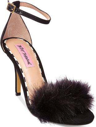 Betsey Johnson Harpur Two-Piece Sandals $69 thestylecure.com