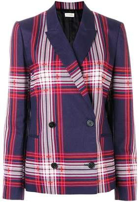By Malene Birger plaid double breasted jacket