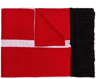 Givenchy red, black and white supporter logo scarf