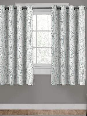 Home Outfitters Branches Linen-Blend Curtain Panel Pair