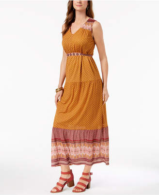 Style&Co. Style & Co Geo-Print Maxi Dress, Created for Macy's