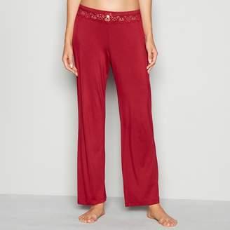 J by Jasper Conran Dark Red Lace Trim Jersey 'Lizzie' Pyjama Bottoms