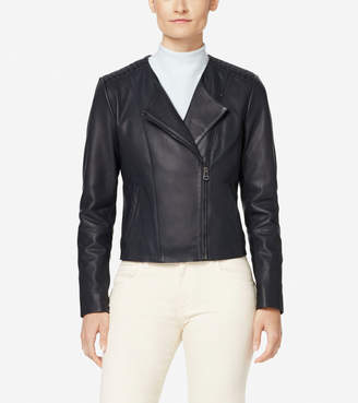 Braided Leather Lambskin Jacket