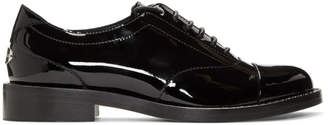 Jimmy Choo Black Patent Reeve Flat Oxfords