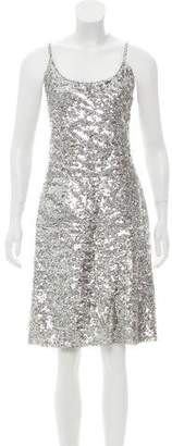Krizia Sequined Sleeveless Dress