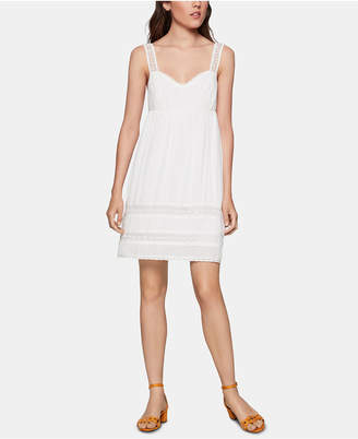 BCBGeneration Crochet-Trim Shift Dress