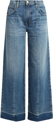 CURRENT/ELLIOTT The Wide Leg Crop high-rise jeans $280 thestylecure.com
